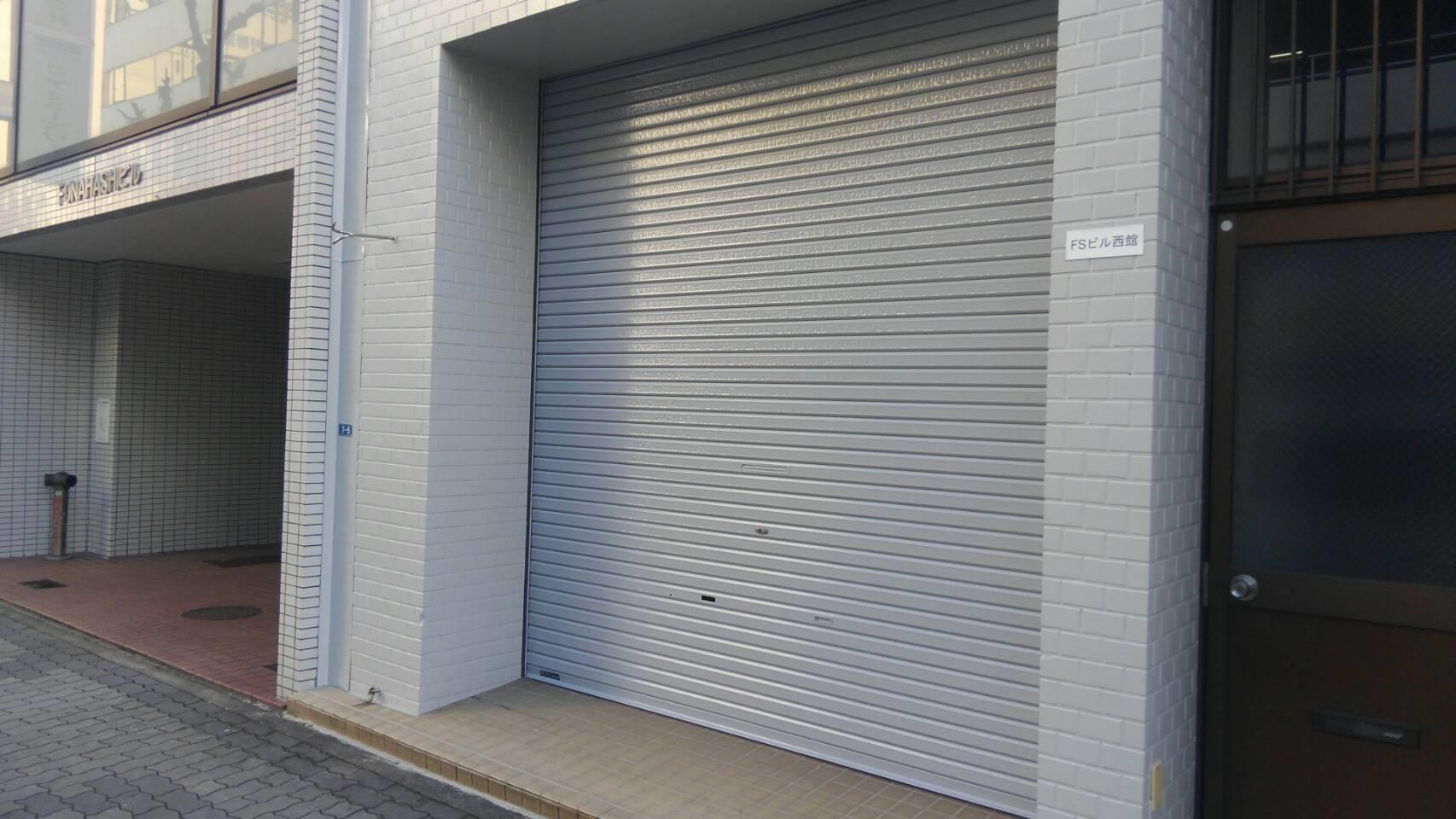 名古屋市中区 店舗シャッター塗替塗装後