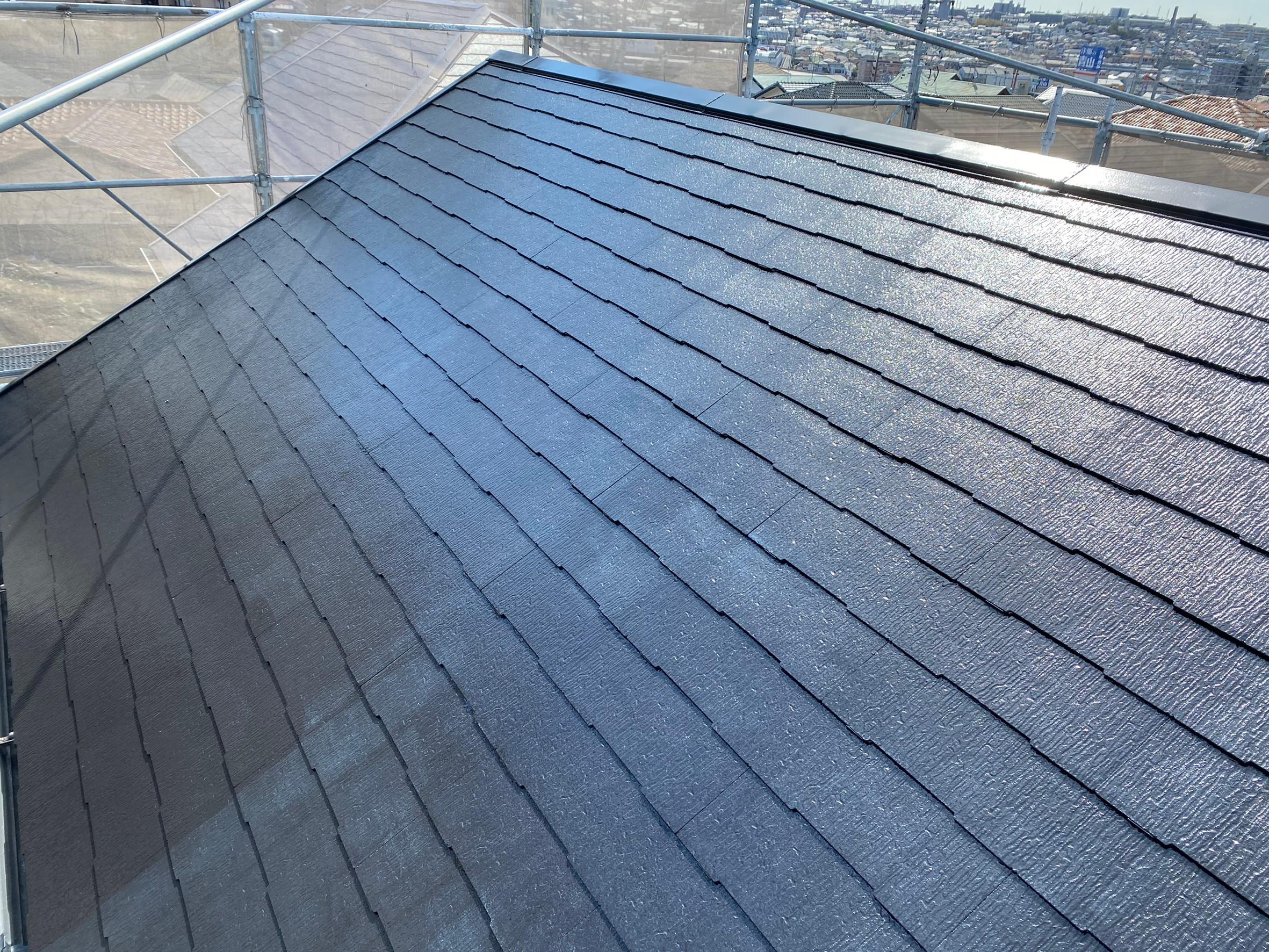 塗装後 名古屋市緑区住宅遮熱屋根塗替え工事