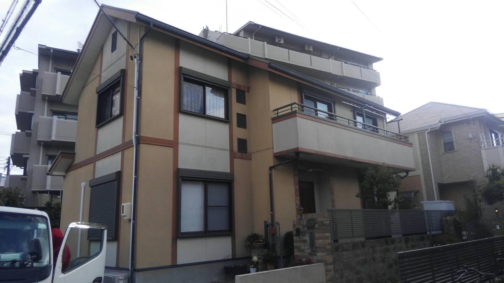 塗装前 名古屋市緑区住宅遮熱屋根塗替え工事
